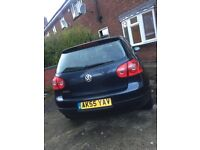 QUICK SALE BLUE VOLKSWAGON GOLF 1.4 PETROL 2OO5 12 MONTHS MOT