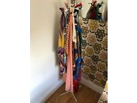 14 vintage silk and cotton scarves