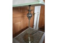 Antique brass table/ bedside lamp