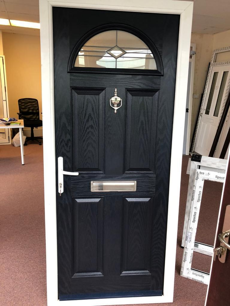 Composite Front Door Navy Blue In Westcliff On Sea