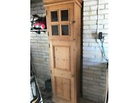 Tall pine cupboard, used as kitchen storage but could be used anywhere.