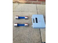 Olympus dumbbell weights 2 x 3kg in case