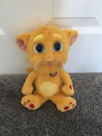 Talking ginger interactive cat toy in like new condition