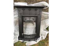 Cast Iron Fireplace - Original Victorian Art Nouveau elegant Renee McIntosh design