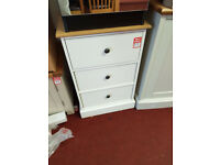 Kensington 3 drawer bedside - Oak and Grey second