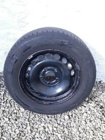Spare wheel and tyre for Renault Megane Mk3.