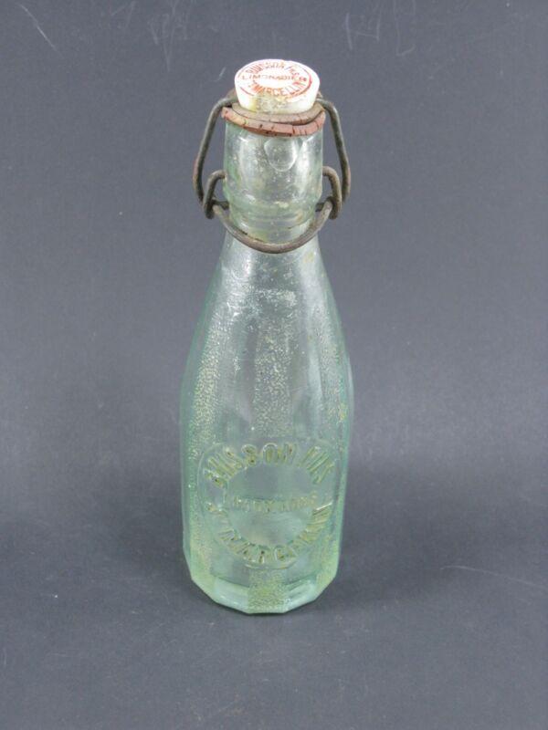 petite bouteille ancienne verre BUISSON fils limonade st MARCELLIN