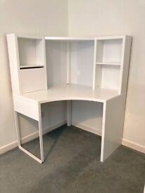 IKEA MICKE white corner desk