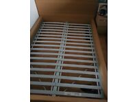 Malm double bed frame oak wood part of the malm collection
