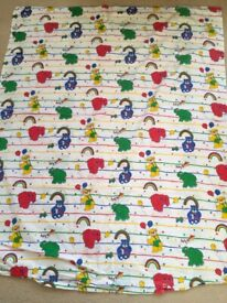 Baby Infants Duvet Cover bright colours of rainbows, teddy bears and elephants