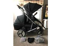 BABYSTYLE edge double / single pram phantom black