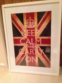 KEEP CALM & CARRY ON Framed poster picture print from HEALS
