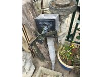 Victorian lead water pump