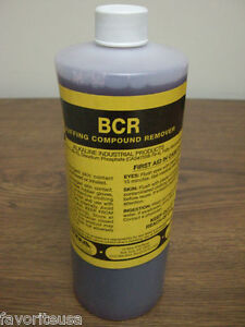 BCR ORIGINAL ULTRASONIC CLEANING SOLUTION BY OAKITE CHEMETALL 1QT