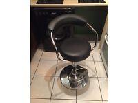 Black and chrome kitchen stool