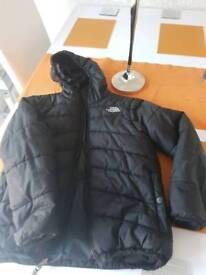 Boys north face reversable padded jacket