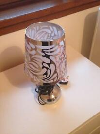Silver touch lamp