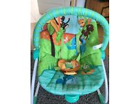 Baby jungle themes rocking and vibrating chair