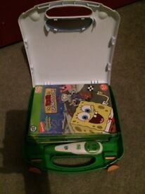Leapfrog pen tag reader with books and carry case