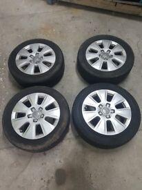 "Genuine AUDI 16"" alloys incl part worn tires"