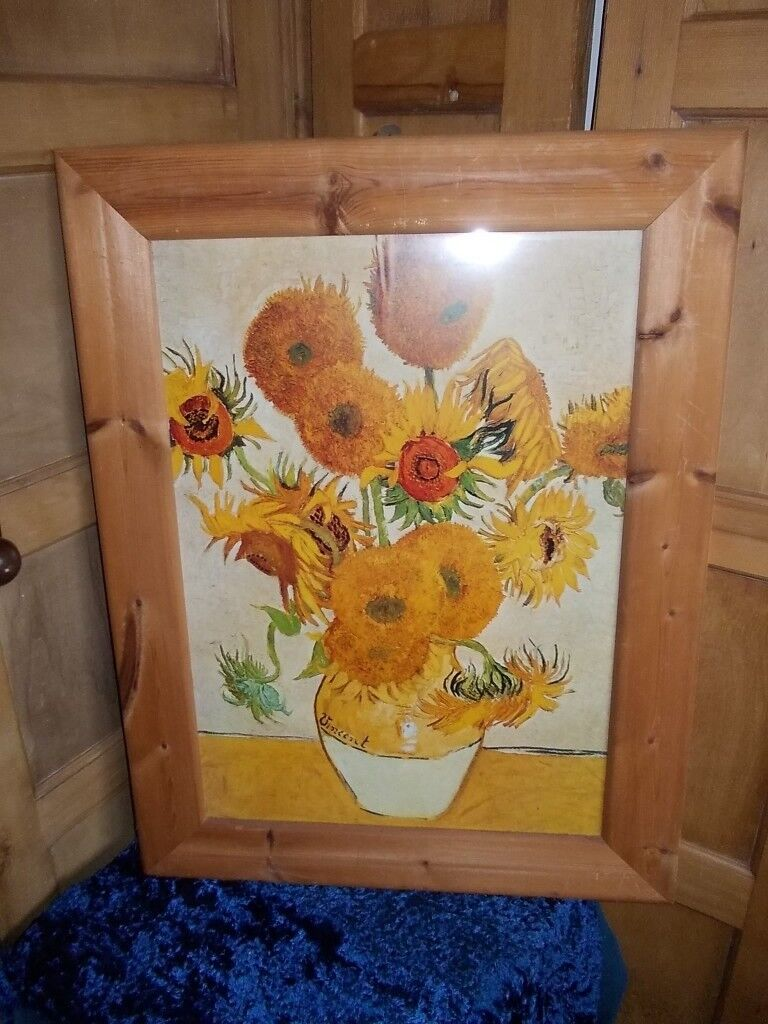 Large pine picture frame