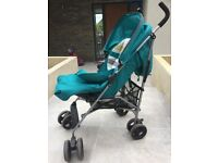 Almost new mamas and papas buggy with foot muff