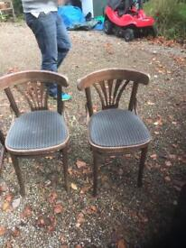 Vintage curved back chairs