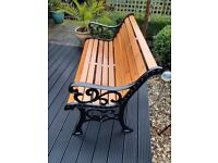 "Garden Bench Refurbished ""Fleur de Leys"" Design....Christmas Gift ?."