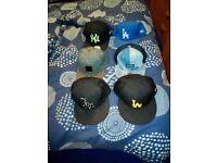 Selection of baseball caps