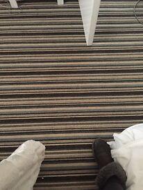 Cream stripped carpet like new