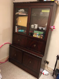 Mahogany dining room unit. FREE to a good home. PICK UP ONLY.