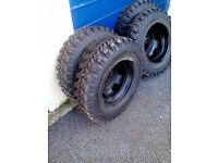 Ford transit truck on _off road wheels tyres