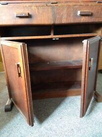 Solid wooden bureau