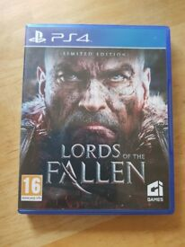 Ps4 game Lord's of the fallen limited edition