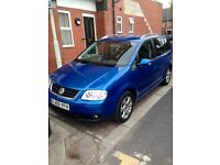 VW TOURAN 2.0TDI DIESEL.. 7 SEATER...FULL SERVICE HISTORY...2 FORMER KEEPER...DRIVERS PERFECT.