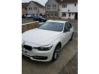 White bmw 318d sport, full service history, dab, Bluetooth, cruise control, immaculate condition