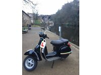 Vespa Piaggio PX 125, 332 miles on the clock, one owner from new