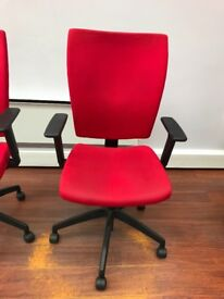 Red Executive Office Swivel Fully Adjustable Chair.