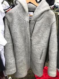 Zara woolen coat with hood