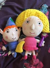 Ben and holly soft toys