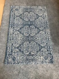 Small blue woven rug - like new!