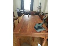 Large Sheesham Dining Table Solid Jali Indian HardwoodP and chairs