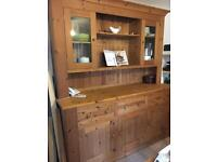Solid wood display caninet