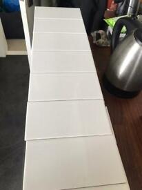 Johnson white ceramic tiles. 100x200mm 296 in total. Kitchen or bathroom