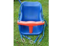 Toddler seat for garden swing