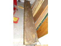 2 x old solid oak beams 6 foot long x 9.5 inch x 9.5 inch square - oak mantle £100 each