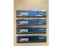 8GB Kingston Hyper Blu DDR3 RAM memory 240pin
