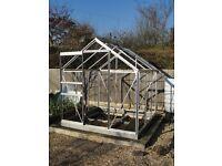 6 x 6 feet - Silver Aluminium Greenhouse