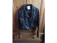 Girl's Black Leather Jacket
