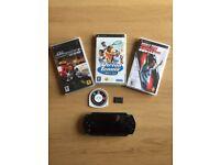 PSP Original Console + 4 Games + Memory Stick